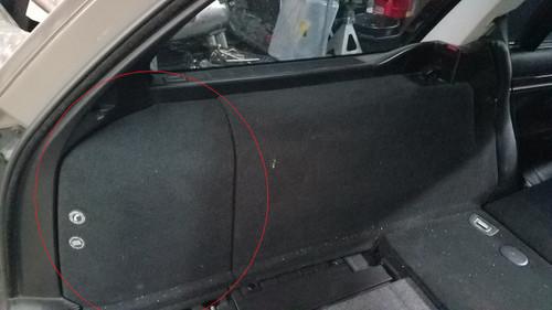 BMW E39 540i 528i 525i WAGON DRIVER TRUNK SIDE CARPET COVER 8217043
