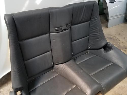 BMW E46 M3 330ci 325ci CONVERTIBLE REAR UPPER LOWER BLACK LEATHER SEATS