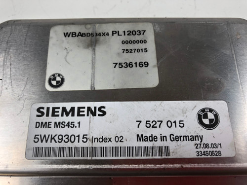 03 04 05 BMW e46 330 M54 325i M56 SULEV ENGINE DME MS45.1 EWS 7527015