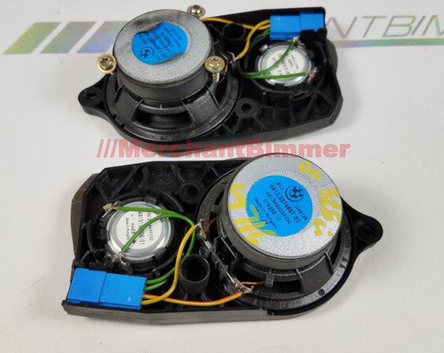 BMW E46 325 323 Haes Front Door Mid Range Tweeters Pair 8374697