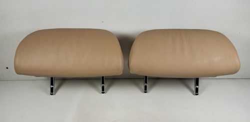 BMW E46 330i 325i REAR HEADREST BEIGE LEATHER HEAD REST 8236154