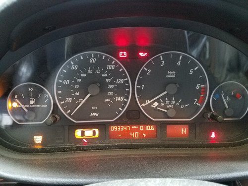 01 BMW E46 330ci Coupe Automatic Cluster Speedometer 93k miles 6906881