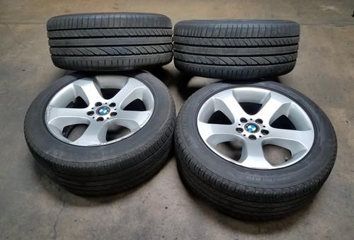 """2000-06 BMW X5 OEM 5 SPOKE 19"""" WHEELS W/ TIRES 6769875"""