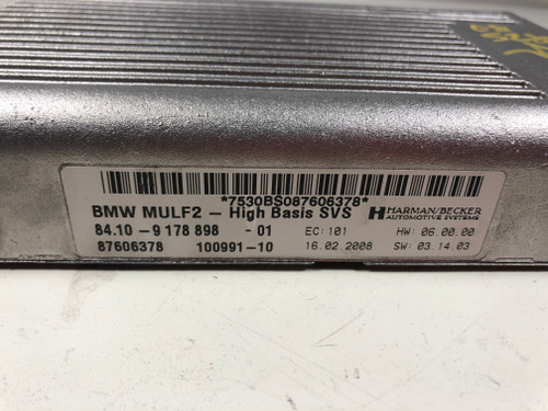 08 09 BMW E60 E90  AUDIO INTERFACE BLUETOOTH MULF2 MODULE 9178898