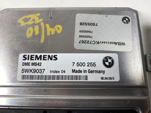 99 00 BMW E46 328i 325i M52TU ENGINE DME EWS TUMBLER MASTER KEY 7500255