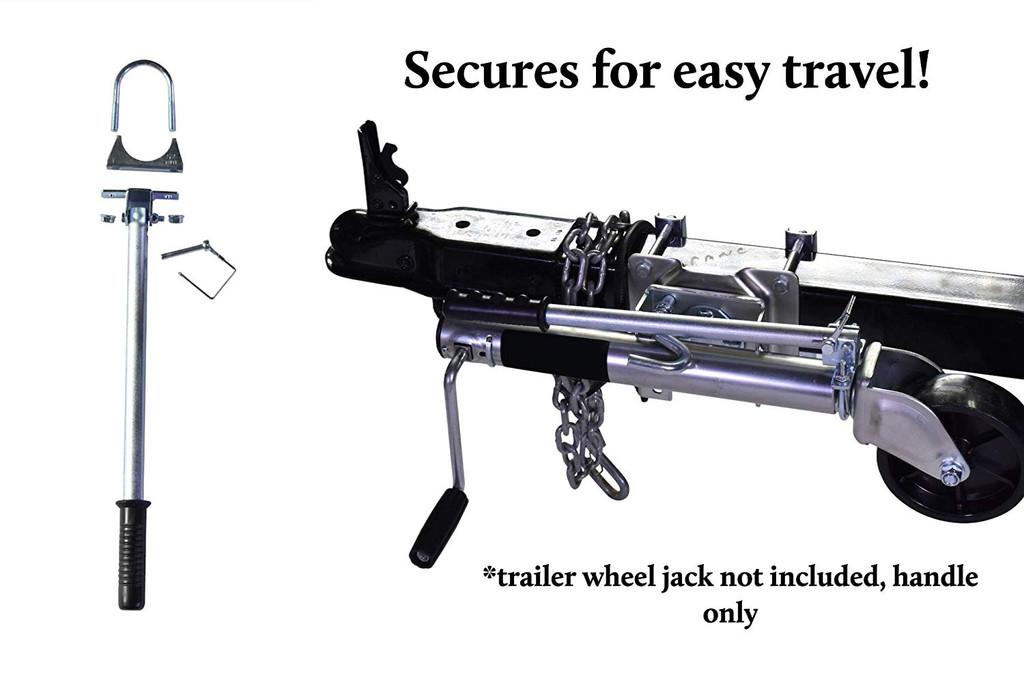 New! Steering Arm for Trailer Wheel Jack, Quick Swivel Dual Wheel Turning. Use It With Boat, Utility, Jet Ski, Marine, or Small Utility Trailer. Bolt-On Your Wheel Jack! New Patent Pending Design.