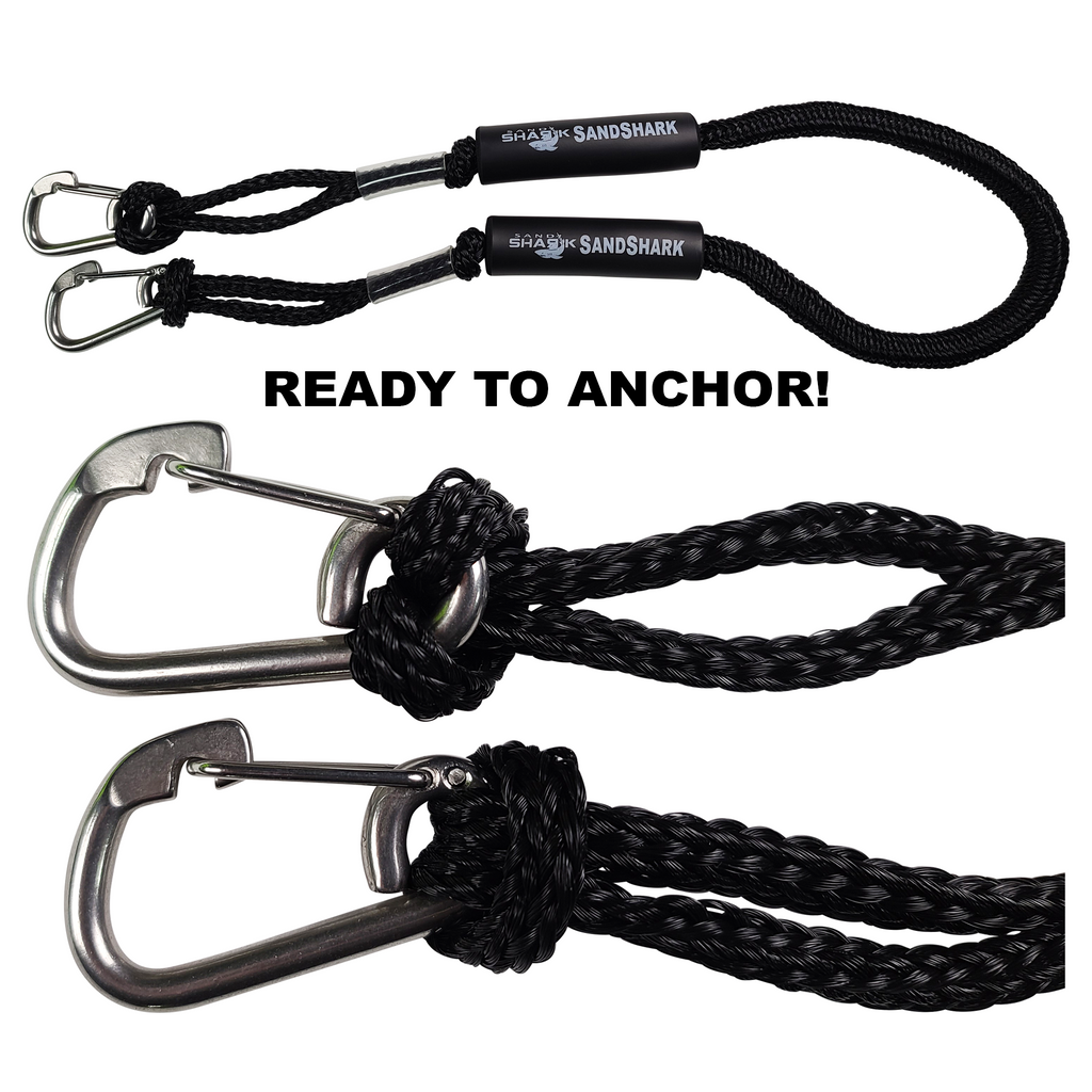 "2pcs Carabiner Clip 5/16"" inch (8mm) Stainless Steel 316 Marine Grade Safety Clip, Spring Hook, Rope Buckle Lock, Great for Dock Lines"