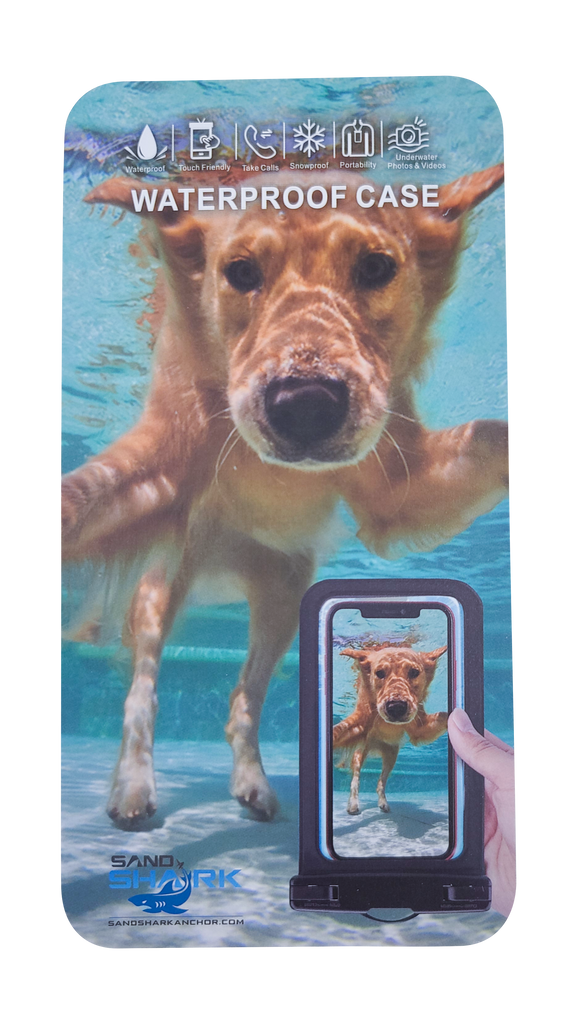 Large 7.875in IPX8 Waterproof Phone Case Universal Compatible w/Most All Mobile Phones iPhone Pro Max 12/11 XS Samsung Galaxy Google Pixel HTC Underwater Photos Videos Touch-Friendly