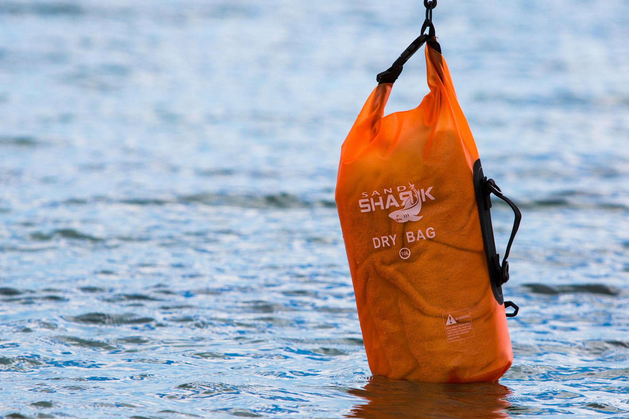 32ed9f4bb3f Premium Waterproof Dry Bag by SandShark- Transparent 10   20 Liter Floating  Sack for Boating
