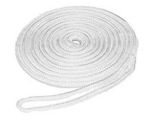 Dock Lines 10ft 3/8 & 15ft 1/2 inch in White, Pre-spliced Double-Braid Nylon