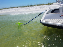 New Sport Sand Shallow Water Beach Anchor by SandShark. Boats, Pontoons, PWC, Kayak. Patent Pending Design. Snaps Together, Easy Storage, Easy to Use. 4' Tall.