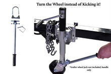 New Trailer Wheel Jack Arm for Quick Swivel Dual Wheel Turning. Use It With Boat, Utility, Jet Ski, Marine, or Small Utility Trailer. Bolt-On Your Wheel Jack! New Patent Pending Design.