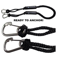 """2pcs Carabiner Clip 5/16"""" inch (8mm) Stainless Steel 316 Marine Grade Safety Clip, Spring Hook, Rope Buckle Lock"""