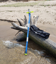 """MEGA-Sport Anchor by SandShark, One Size Fits Them All, Total Size 5' 8"""" Tall, Premium Aircraft Grade Aluminum Shafts with High Strength ABS Plastic Handles & Auger, Boats Pontoons Jetski PWC"""