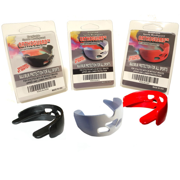 Orthodontic Mouthguard Orthoguards  -  For Athletes With or Without Braces - Upper & Lower Protection - Made In The U.S