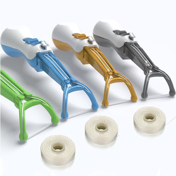 Easy Floss dental floss holder pick, a reusable dental flosser