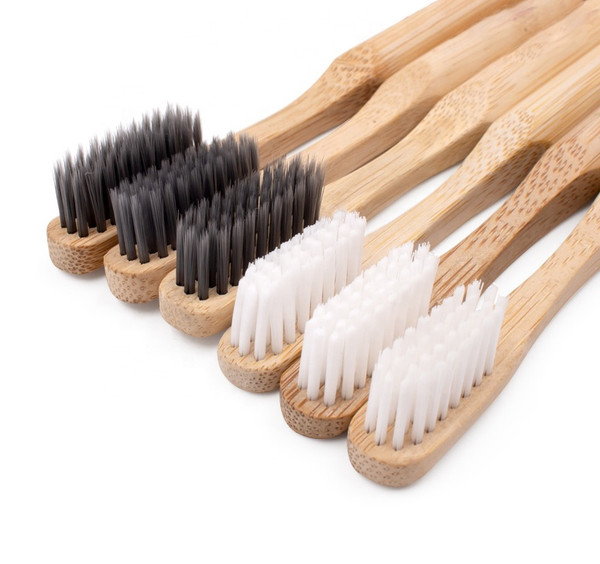 Bamboo Toothbrush 100% Biodegradable -  With Biolon™ Bristles - Pack of 4