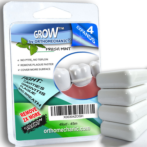 Expandable Dental Floss GROW™ - pack of 4