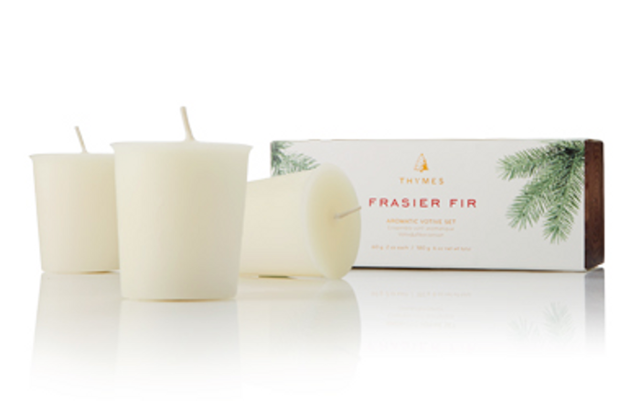 Thymes Frasier Fir Votive Candle Refill Set