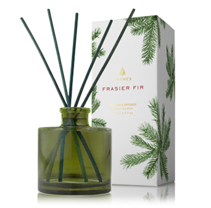 Thymes Frasier Fir Reed Diffuser Green Petite