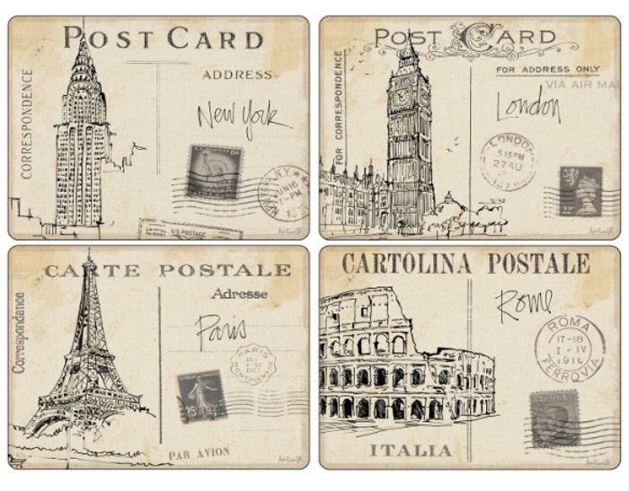 Postcard Sketches Placemats