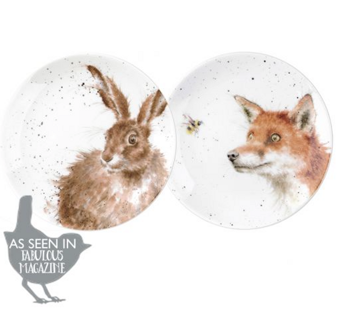 Wrendale Designs Coupe Plates Fox and Hare