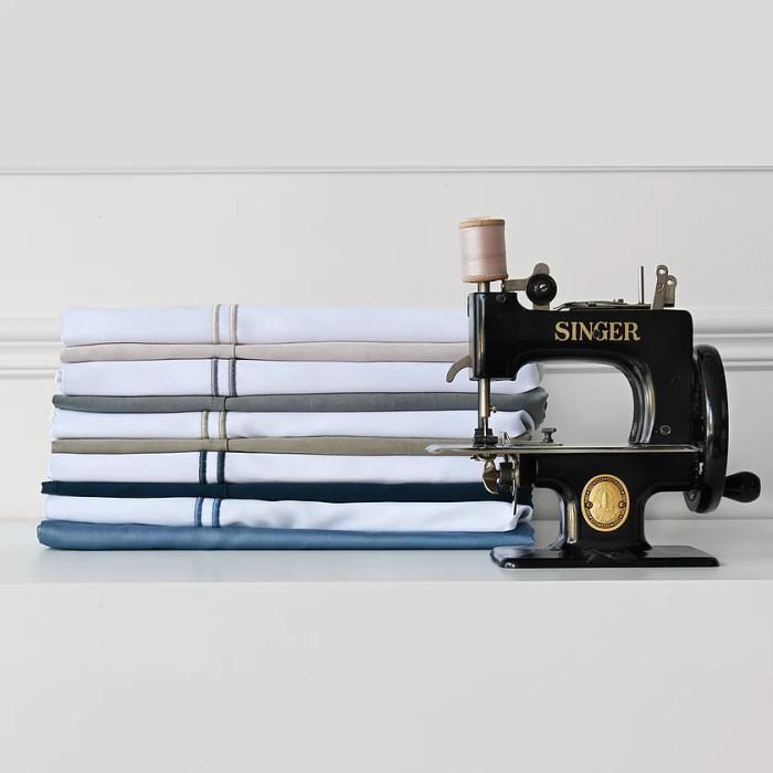 Capri Single Satin Stitch Flat Sheet