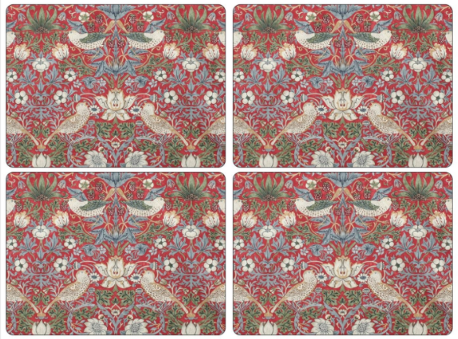 Strawberry Thief Red Placemats