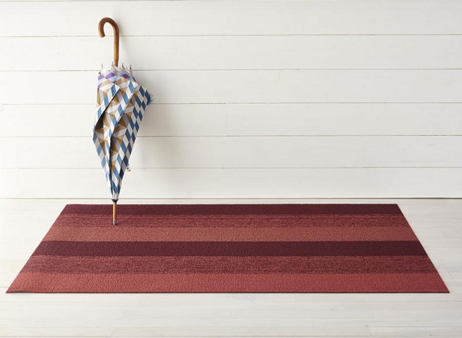 Shag Marbled Stripe Indoor/Outdoor Floor Mats