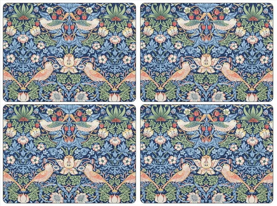 Strawberry Thief Blue Placemats