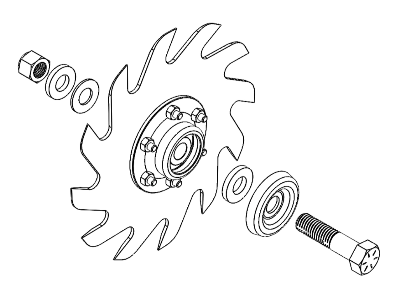 Does not include wheel and bearing assembly.  Hardware only