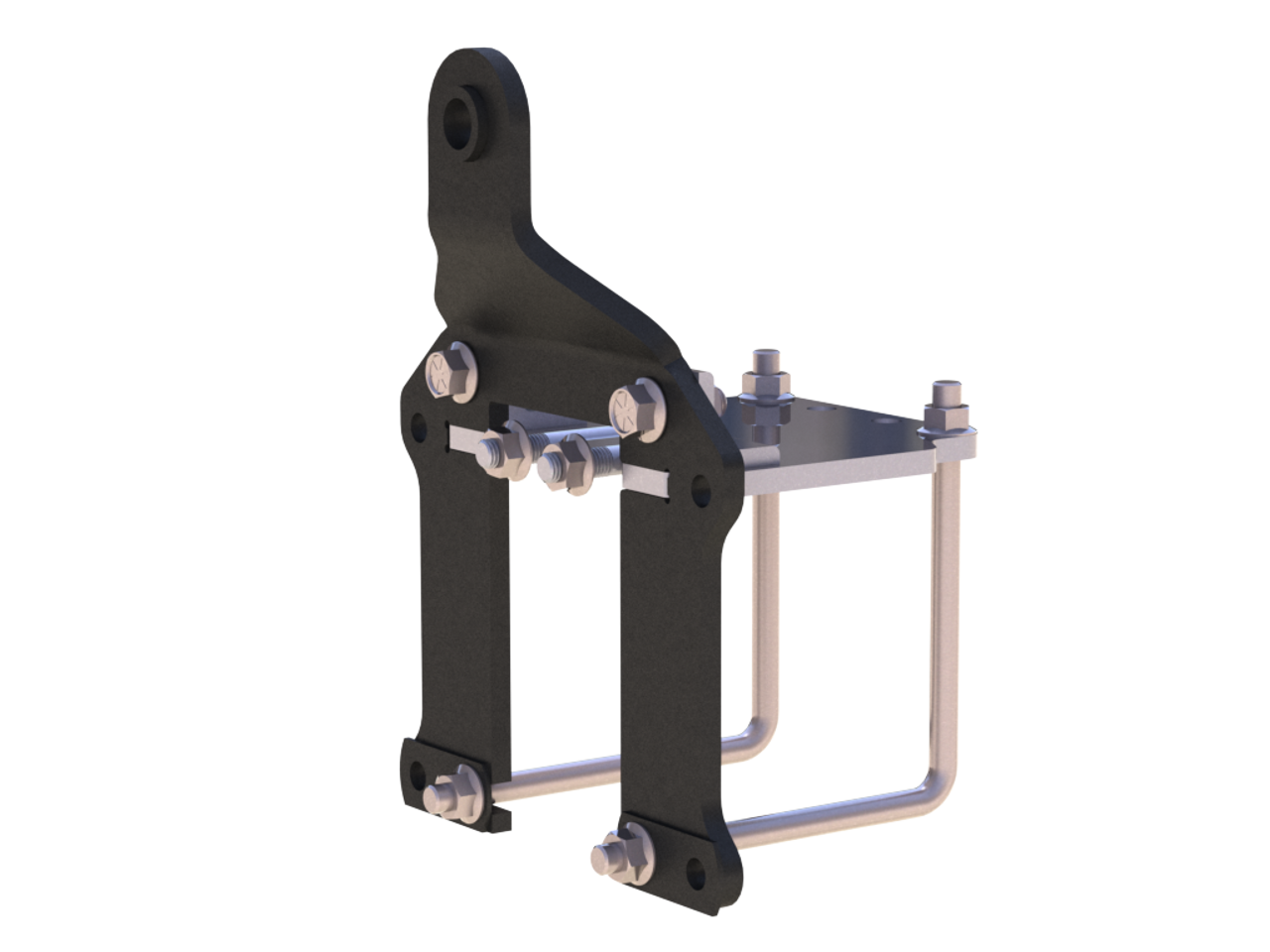 WTS Interlocking Tab and Slot design ensures brackets stay put.  Uses combination of L bolts and Row unit mounting bolts so bracket is pulled in two directions. Patent Pending