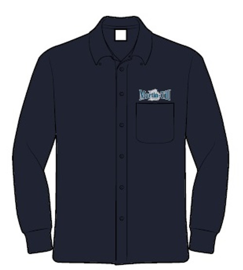 Men's Long-Sleeve Twill Shirt with Stain Release (M500)