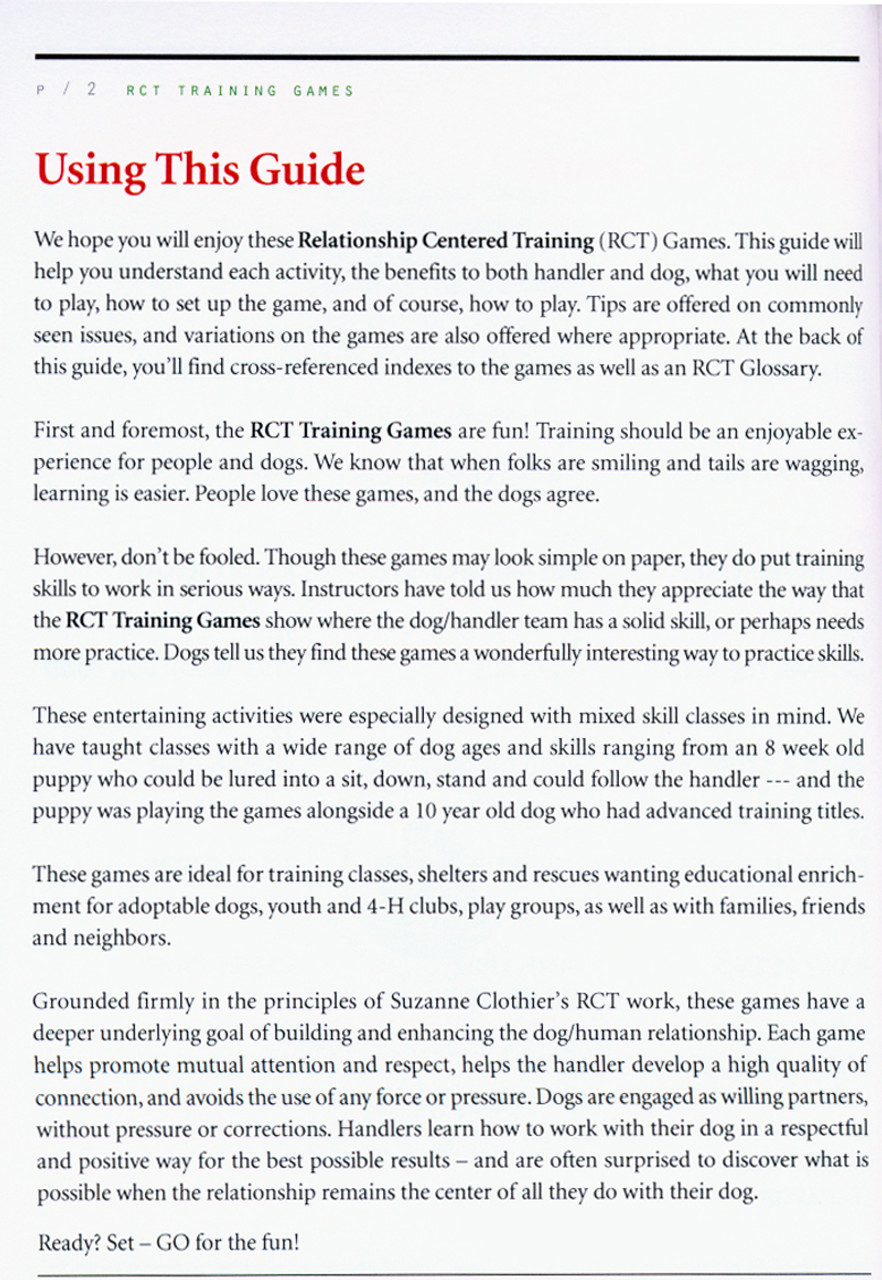 The RCT Training Games Kit - Relationship Centered Training PDF