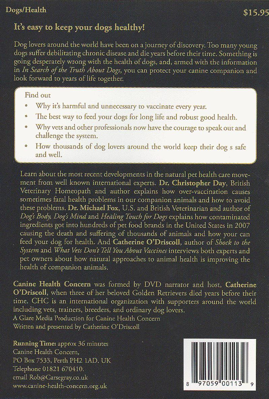 In Search Of The Truth About Dogs - An Introduction To Natural Canine  Health Dvd