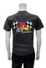 Mr. Horsepower Checkered Flag Charcoal T-Shirt