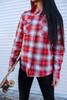 Dixxon / Clay Smith Cams Ladies 90 years of American Horsepower Flannel