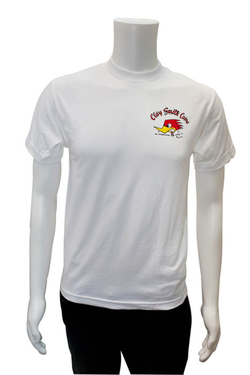 Mr. Horsepower Clay Smith Cams White T-Shirt