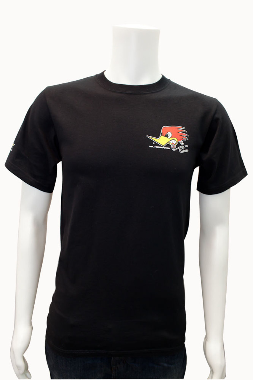 Mr. Horsepower Black Traditional Design T-Shirt