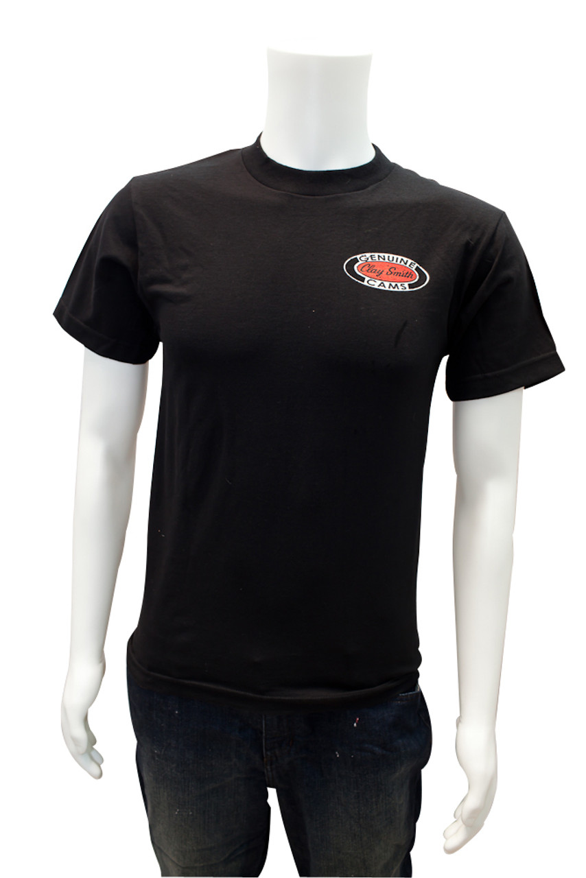 Mr. Horsepower Vintage Clay Smith Cams Black T-Shirt