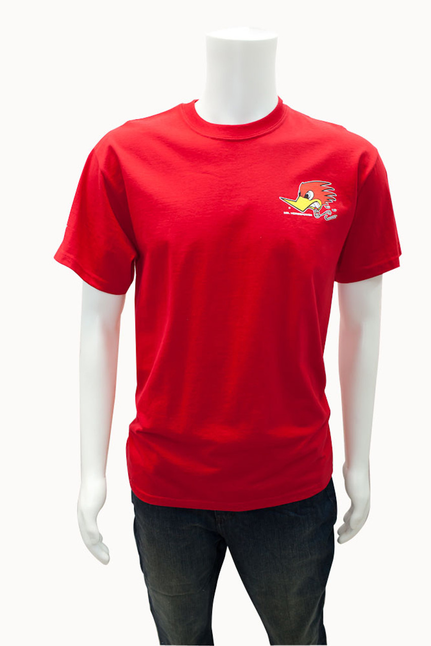 Mr. Horsepower Red Traditional Design T-Shirt