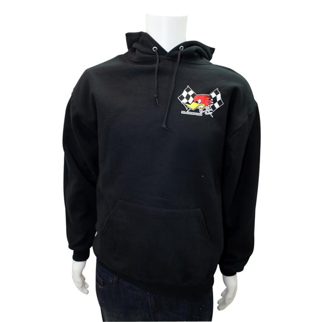 Mr. Horsepower Checkered Flag Black Hoodie