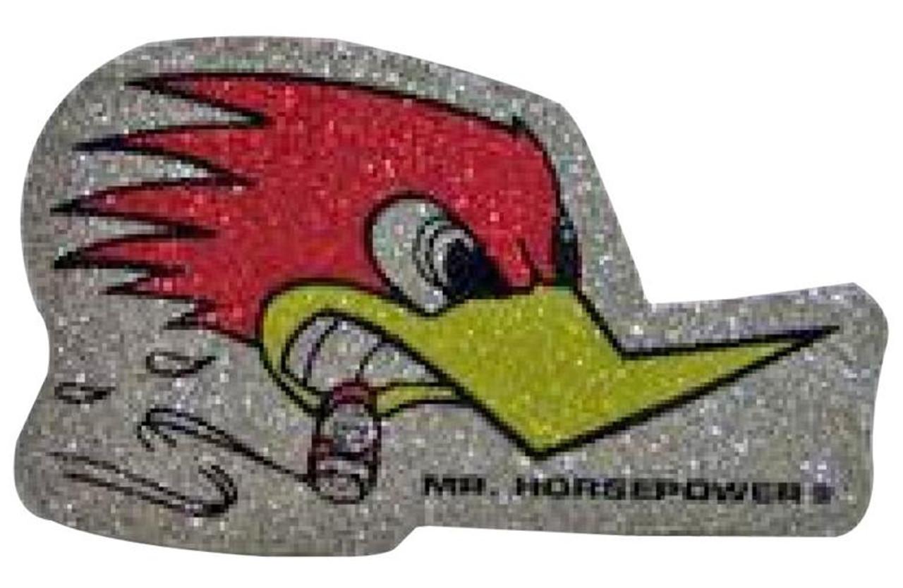 Mr. Horsepower Metal Flake Sticker