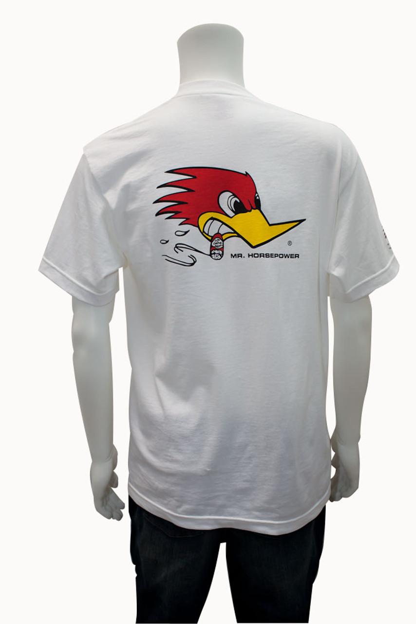 Mr. Horsepower White Traditonal Design T-Shirt