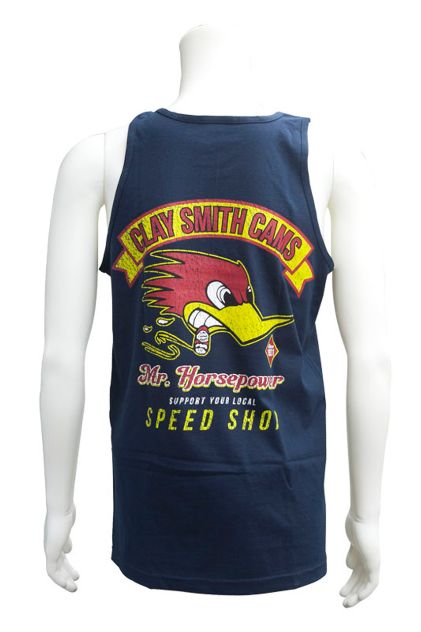 Mens Support Your Local Speed Shop Tank Top Navy
