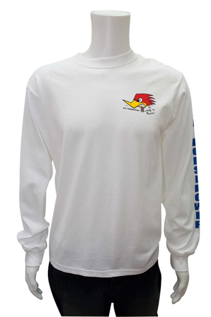 Mr. Horsepower Long Sleeve White T-Shirt