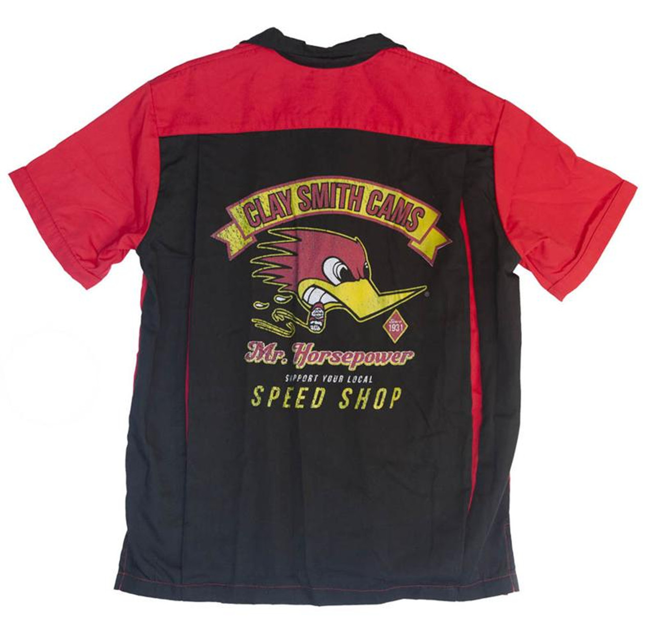 Support Local Speed Shop Bowler Shirt