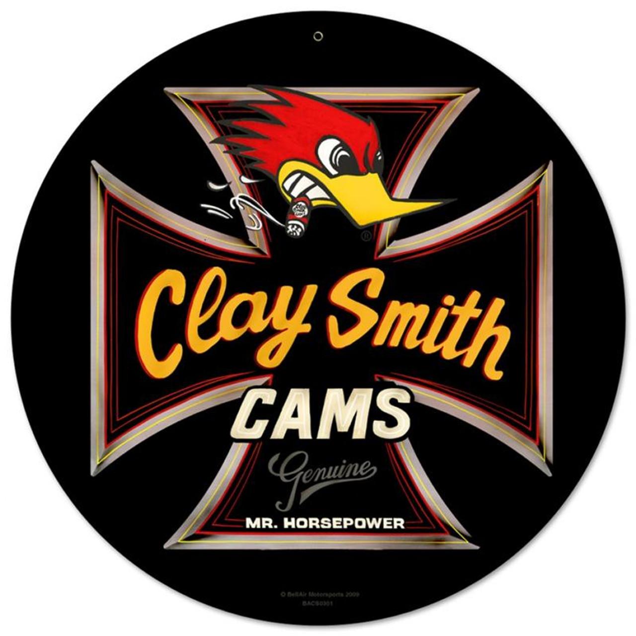 Genuine Clay Smith Round Black Sign