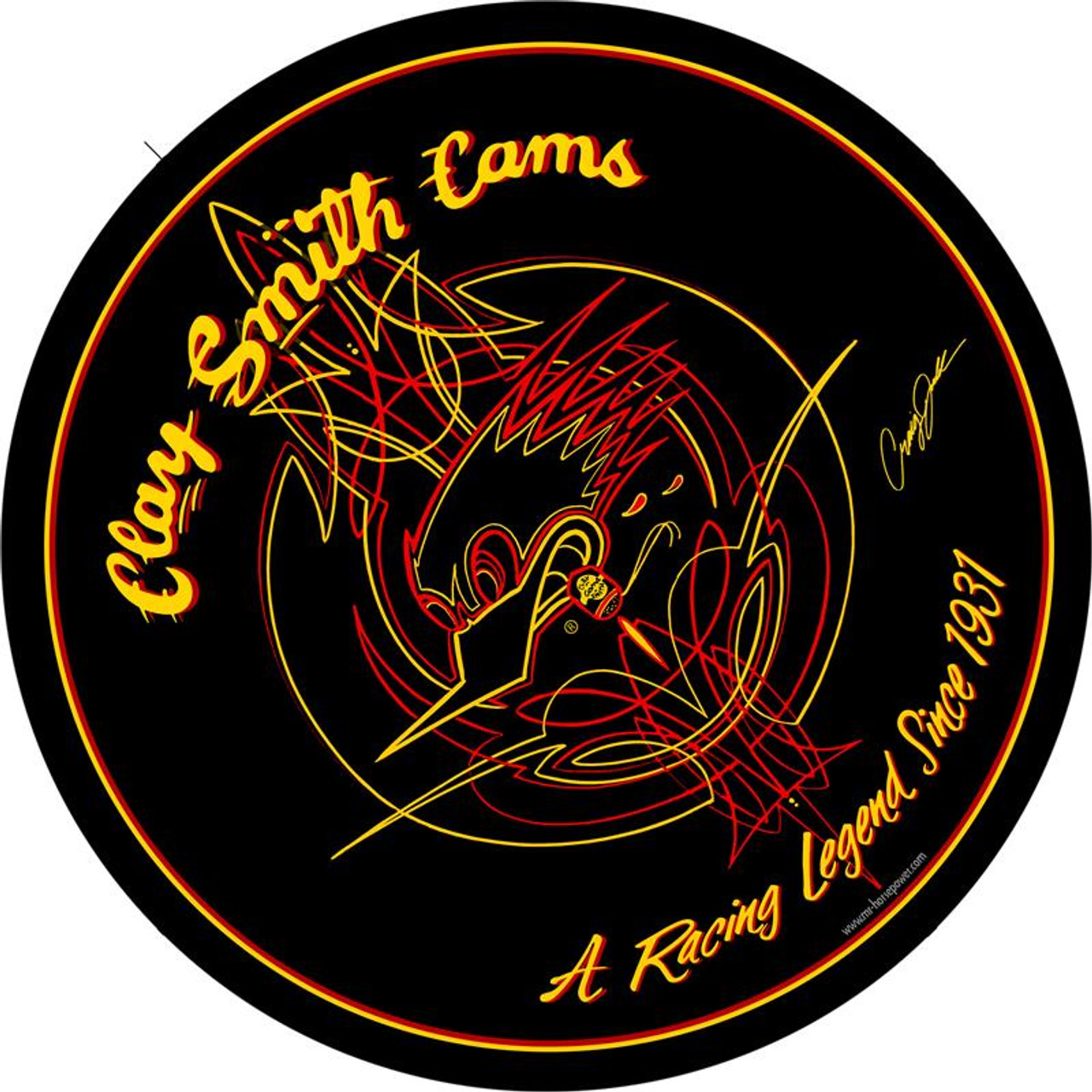 Clay Smith Legend Series Round Sign