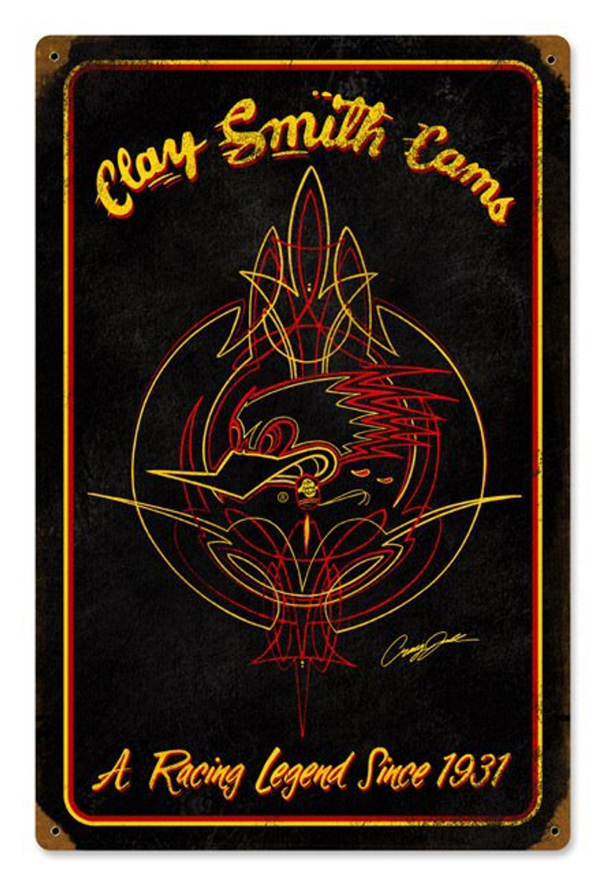 Clay Smith Legend Series Black Sign
